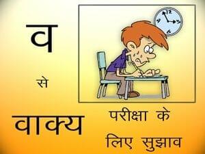 Vaakya pariksha ke lie sujhaav - vakaya - Hindi Grammar Online Classes